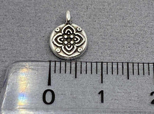 Anhänger Metall Ornament 10 mm, Farbe altsilber - bead&more