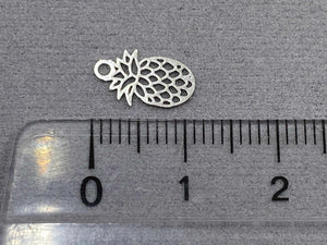 Anhänger Metall Ananas 11 mm, Farbe silber - bead&more