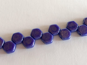 HONEYCOMB 6MM, Farbe 14 ROYAL BLUE LUSTER