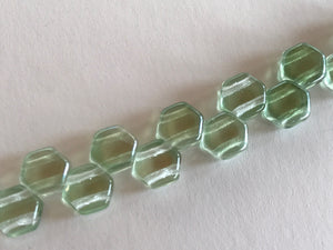 HONEYCOMB 6MM, Farbe 21 LT GREEN LUSTER - bead&more