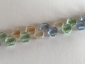 HONEYCOMB 6MM, Farbe 26 BEACH MIX - bead&more