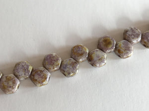 HONEYCOMB 6MM, Farbe 28 SENEGAL PURPLE - bead&more