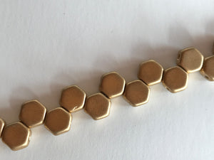HONEYCOMB 6MM, Farbe 34 CRYS BRONZE PALE GOLD - bead&more