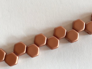 HONEYCOMB 6MM, Farbe 42 MATT MET COPPER - bead&more