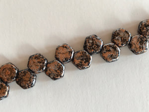 HONEYCOMB 6MM, Farbe 43 TWEEDY LT COPPER - bead&more