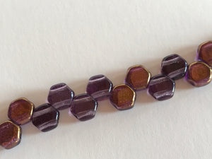 HONEYCOMB 6MM, Farbe 48 TANZANIT BRONZE LSTR - bead&more