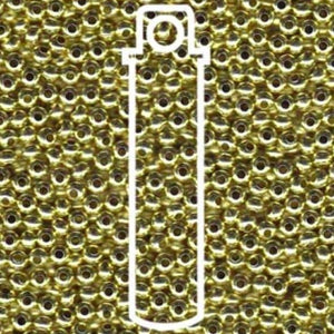 Metallperlen 8/0 - Heavy Metal Seed Beads - yellow brass - bead&more