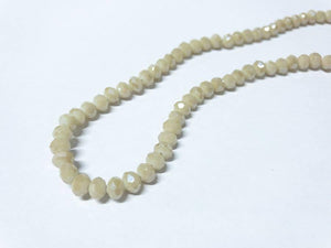Facettierte Glasperlen Disc 6 x 4 mm, Farbe 21 light ginger/beige/pearl shine - bead&more