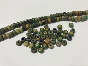 Aged Picasso Glasperlen 6 mm - Farbe Seagrass Mix - bead&more