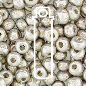 6/0 BAROQUE PEARL 4 mm SILVER - bead&more