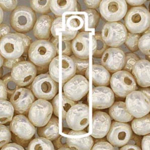 6/0 BAROQUE PEARL 4 mm WHITE - bead&more
