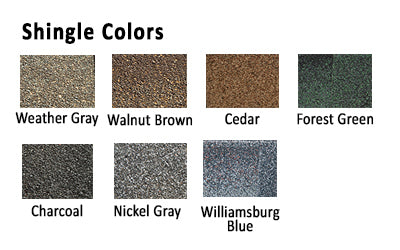 Horizon Chicken Coop Shingle Colors