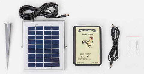 automatic chicken door solar panel