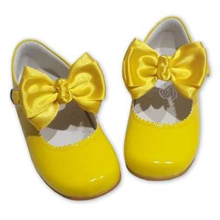 Butterfly bow patent Mary-Jane shoes (various colours)