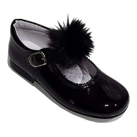 Pom pom Mary-Jane shoes in patent (various colours)