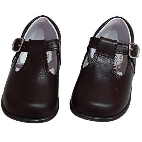 Leather T-bar shoes (various colours)