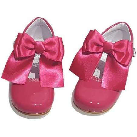 Double bow patent Mary-Jane shoes (various colours)