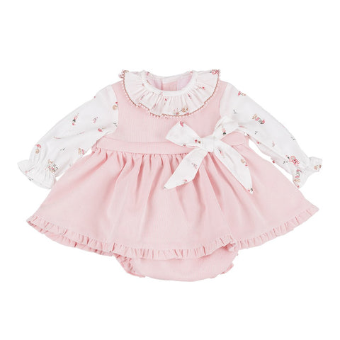 Donna pink and white patterned baby set