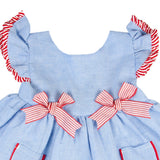 Giandra blue and red baby dress