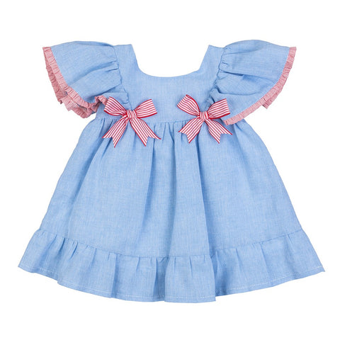 Lucia blue and red girls dress