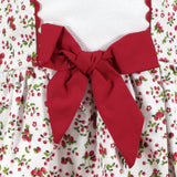 Maisie red floral and cherry print older girls dress