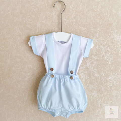 Toby baby blue and white two-piece set