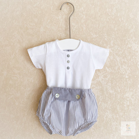 Loreto grey striped two piece set