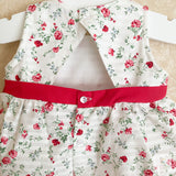 Alexandra red and white floral peplum top and bloomers