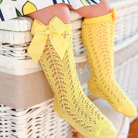 Pelerine knee high bow socks