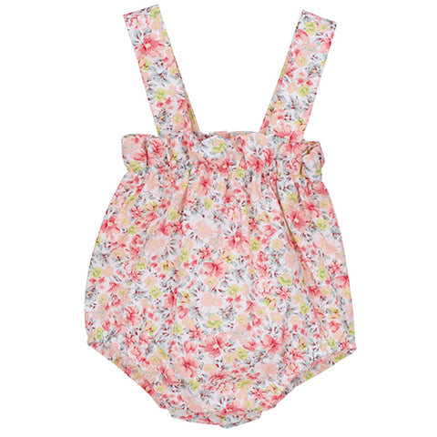 Robyn pink multi floral romper