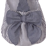 Jody navy striped romper with large bow