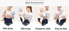 Multiple Positions Baby Waist Carrier with Pockets