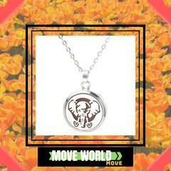 African elephant aromatherapy diffuser necklace