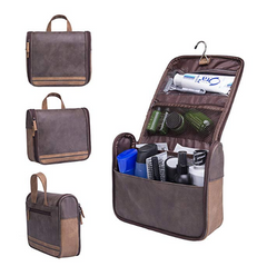 Leather waterproof vanity bag