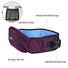 Adjustable and Easy to Use Baby Waist Carrier with Pockets