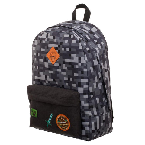 Cool Camo Grey Minecraft Backpack