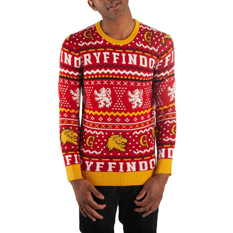 Gryffindor Sweater Harry Potter Sweater Hogwarts Sweater Gryffindor Apparel