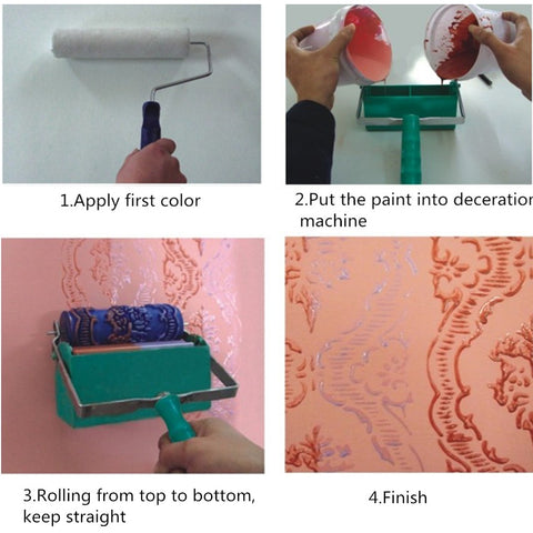 Wall Decor Painting Textured Paint Roller