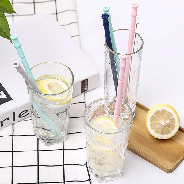 'Save our Planet' Collapsible Silicone Reusable Folding Straw