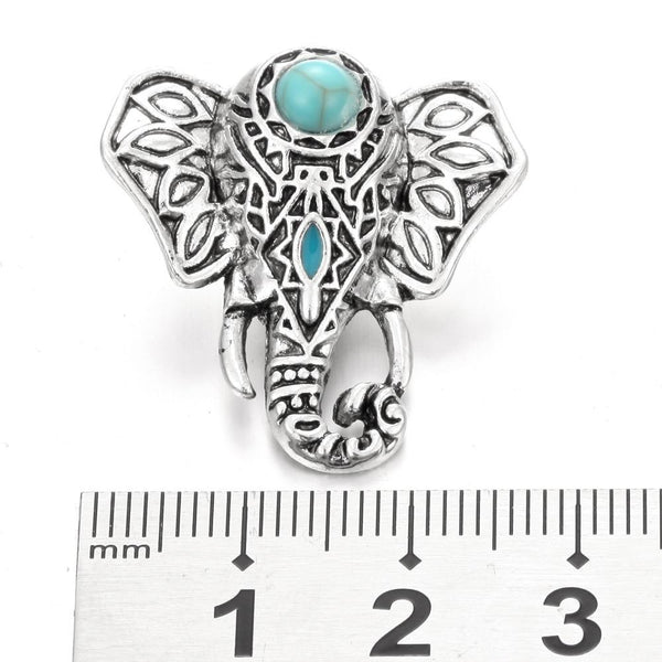"""Turquoise Animal Series Stone Snap Buttons"""
