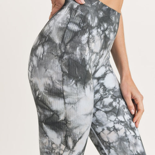 Tie Dye Seamless Ribbed Highwaist Leggings