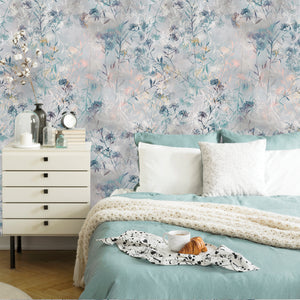 Floral Tropical Plants Removable Wallpaper