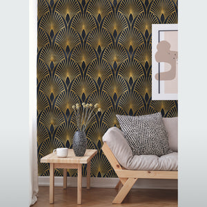 Art Deco Geometrical Removable Wallpaper