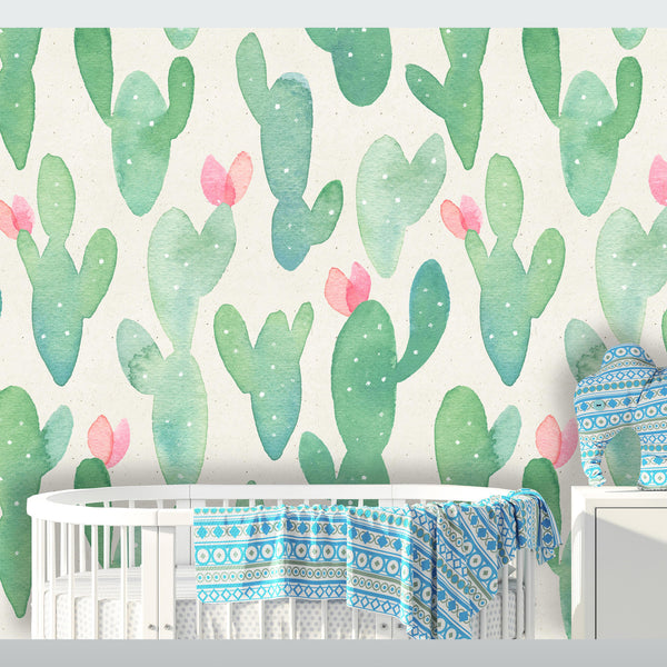 Tropical Cactus Removable Wallpaper