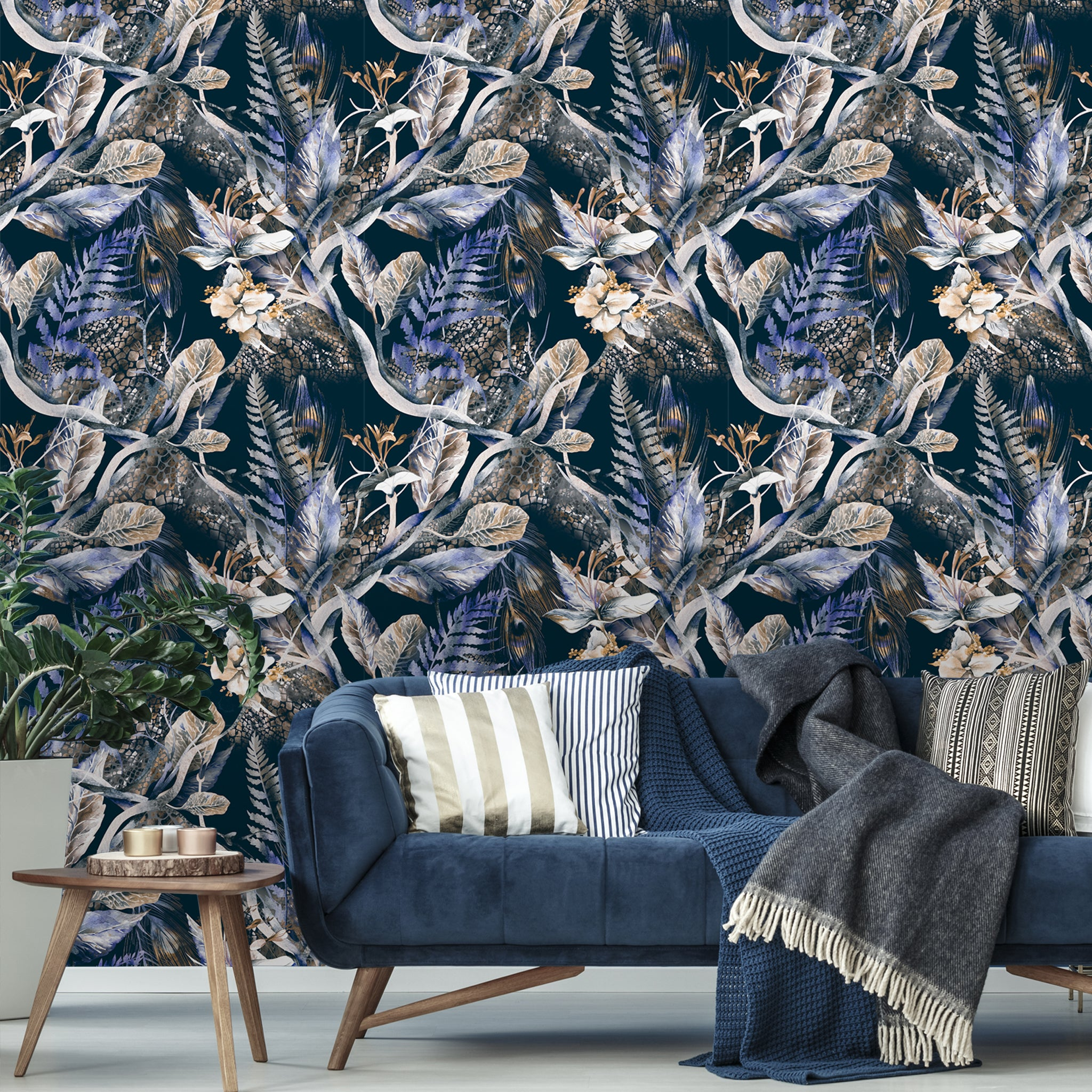 Floral Tropical Removable Wallpaper