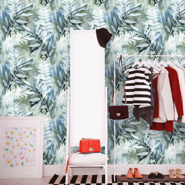 Watercolor Floral Tropical Removable Wallpaper