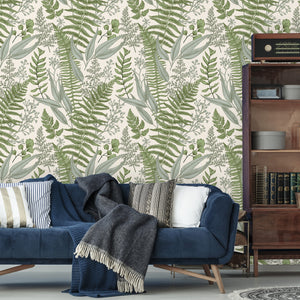 Vintage Leaves Botanical Removable Wallpaper