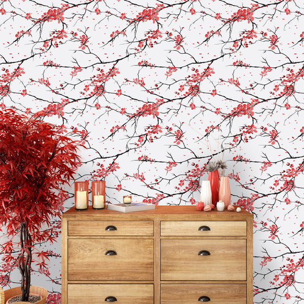 Floral Sakura Removable Wallpaper