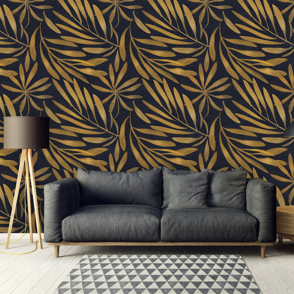 Art Deco Floral Removable Wallpaper