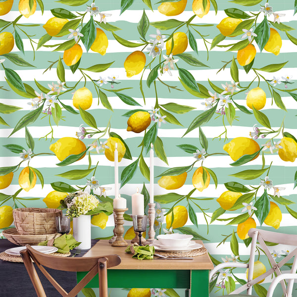 Lemon Fruits Removable Wallpaper